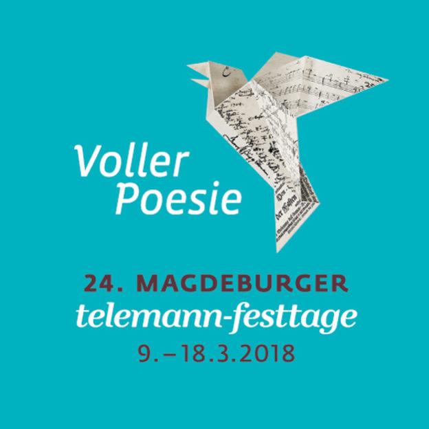 Plakatmotiv 24. Magdeburger Telemann-Festttage 2018 (Gestaltung: Genese, Magdeburg)