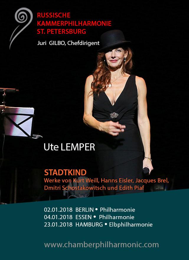 Flyer Ute Lemper: Stadtkind